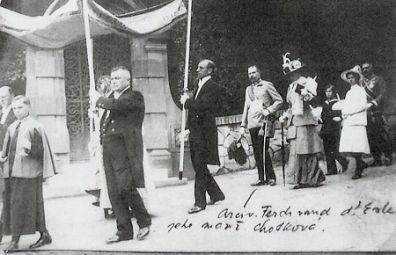 Arcivévoda František Ferdinand se svou ženou Žofií a dětmi na Konopišti.
