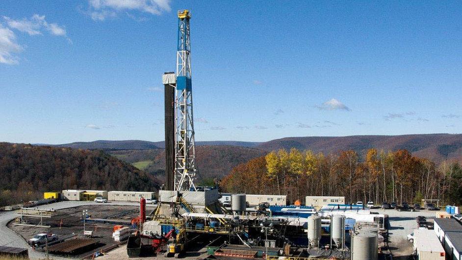 Naleziště břidlicového plynu v USA.