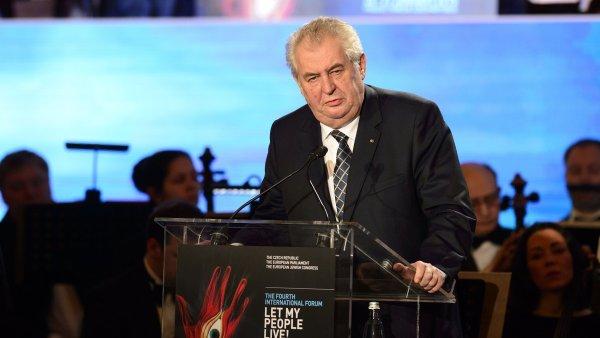 Prezident Zeman vyzval ke spole�n� vojensk� akci proti Isl�msk�mu st�tu