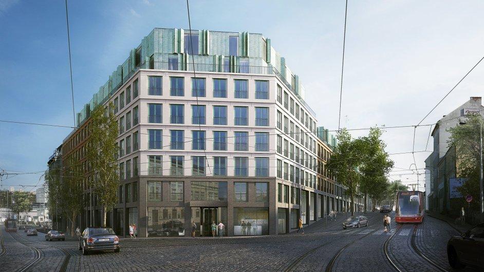 Vizualizace nového Apartment hotelu v Holešovicích
