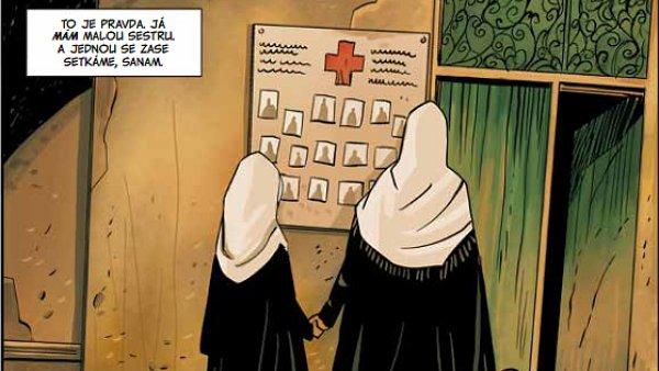 Ukázka z komiksu Jednou se zase setkáme, Sanam.