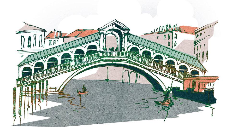Most Rialto v Benátkách