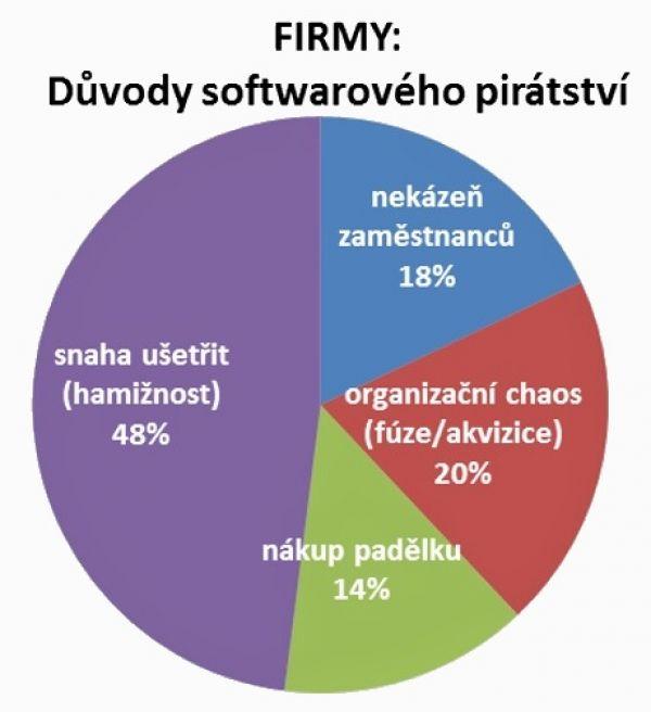 Firmy: důvody softwarového pirátství