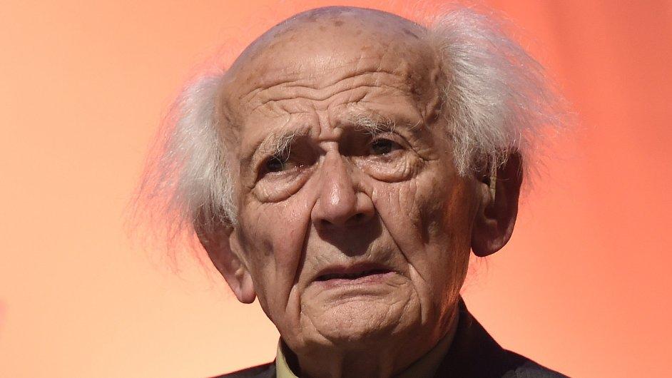 Sociolog Zygmunt Bauman při slavnostním zahájení pražské mezinárodní konference Evropské sociologické asociace.