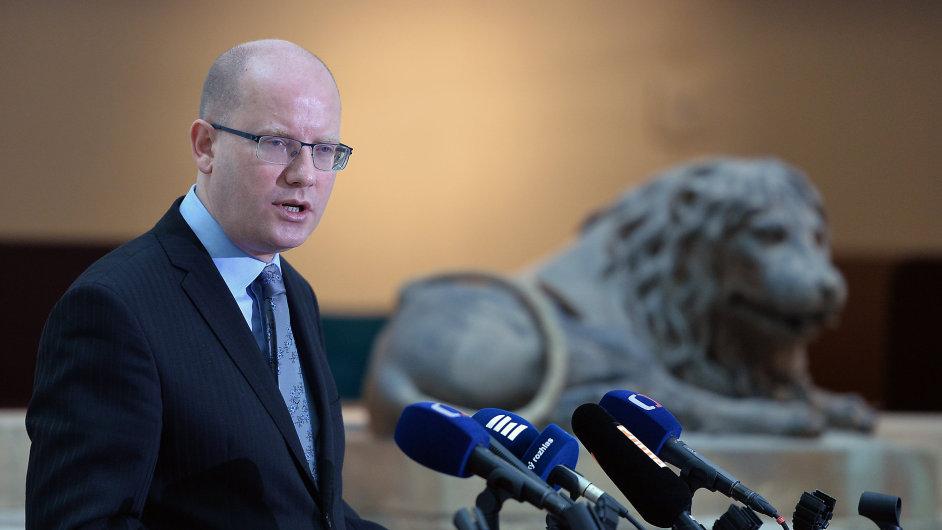 Premiér Bohuslav Sobotka (ČSSD) projednal 22. únorav Praze s předsedy parlamentních stran český postoj kodchodu Velké Británie z Evropské unie