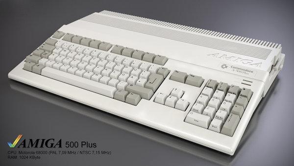 Amiga 500 Plus vyráběná společností Commodore v roce 1992