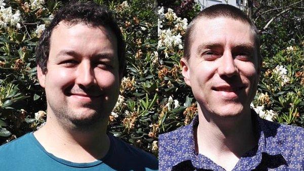 Štefan Zima a Travis Vander Sloot, programátoři ve společnosti Internet BillBoard