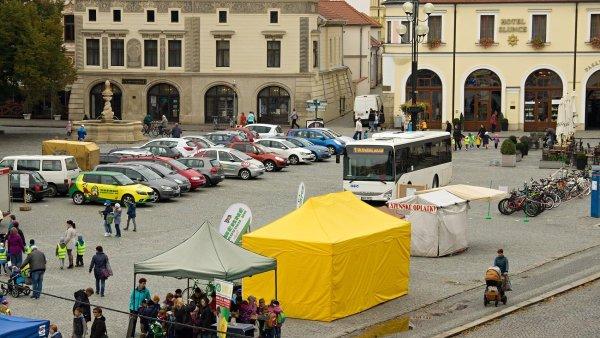 Uherské Hradiště, náměstí - Den bez aut 2017 - ilustrační foto