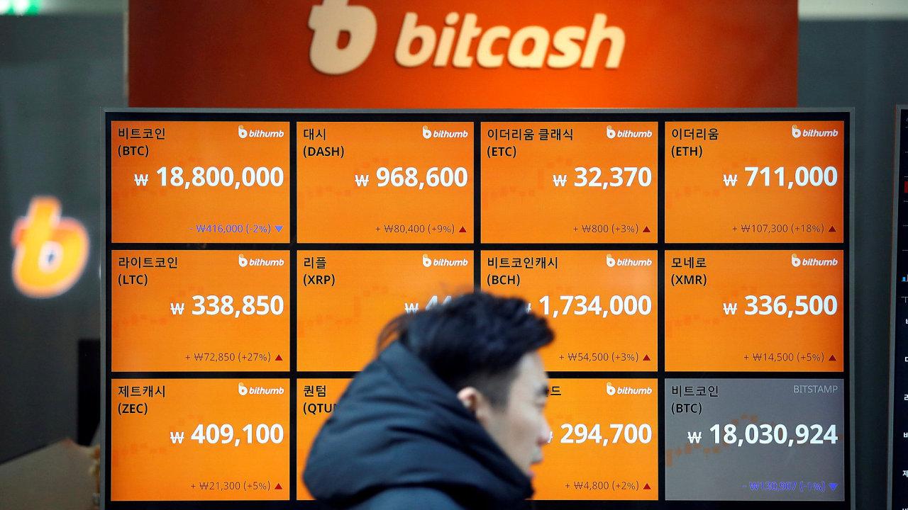 Burza se na objemech obchodů s bitcoiny v Japonsku podílí zhruba 80 procenty - Ilustrační foto.