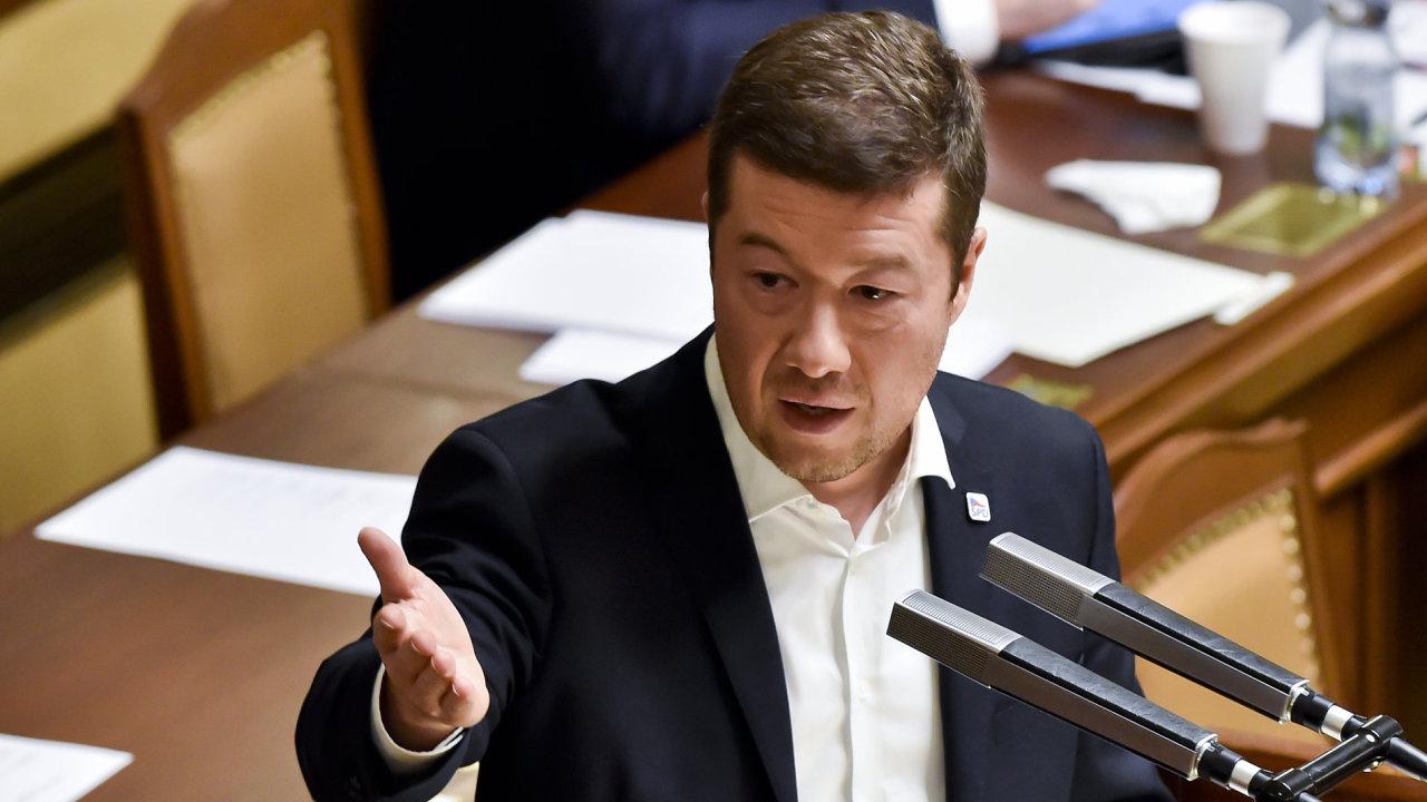 Místopředseda sněmovny a lídr strany SPD Tomio Okamura.