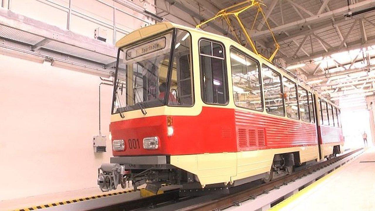 Historická tramvaj KT4D.