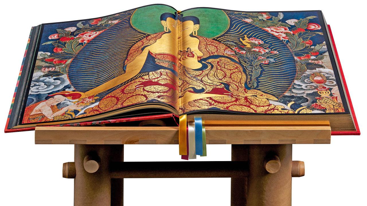 Unikátní kniha Murals of Tibet, která vznikla vespolupráci snakladatelstvím Taschen.