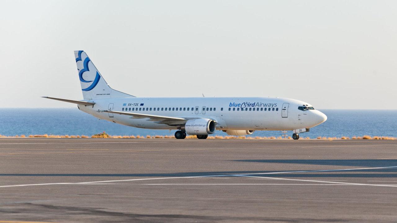 Letadlo společnosti Blue Bird Aviation.