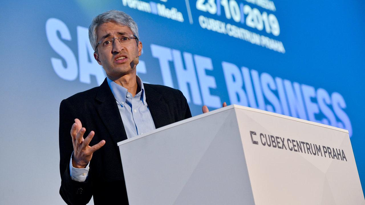 Šéf globálního vývoje ekosystému Google Zpráv Madhav Chinnappa.