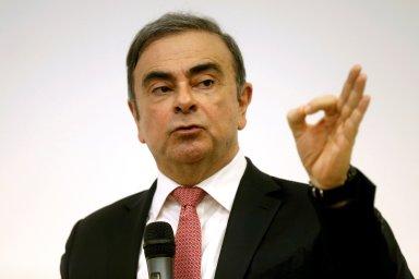 Bývalý šéf Nissanu Carlos Ghosn na tiskové konferenci v Bejrútu v Libanonu.