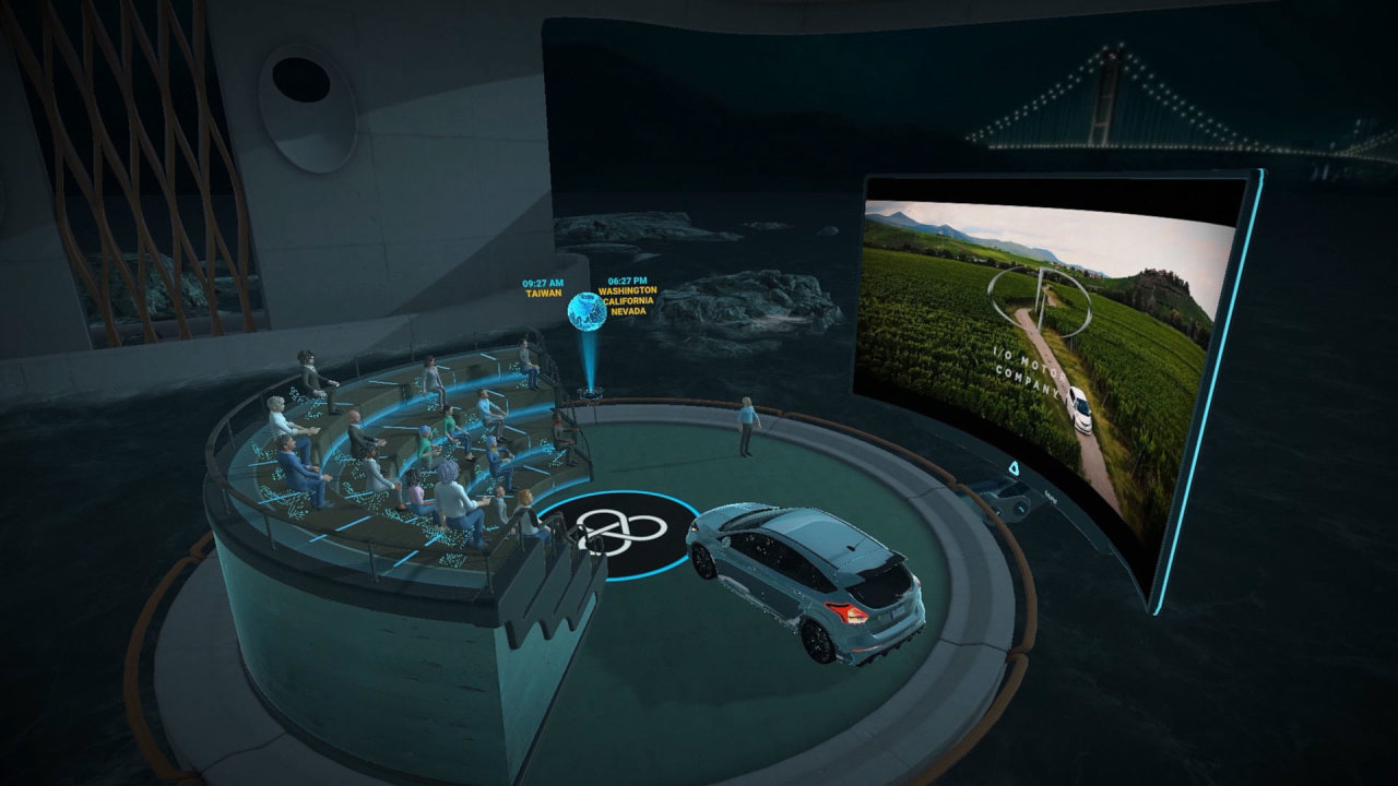 HTC Vive Sync je virtuální prostředí pro schůzky a prezentace, bez stresu a nepořádku.