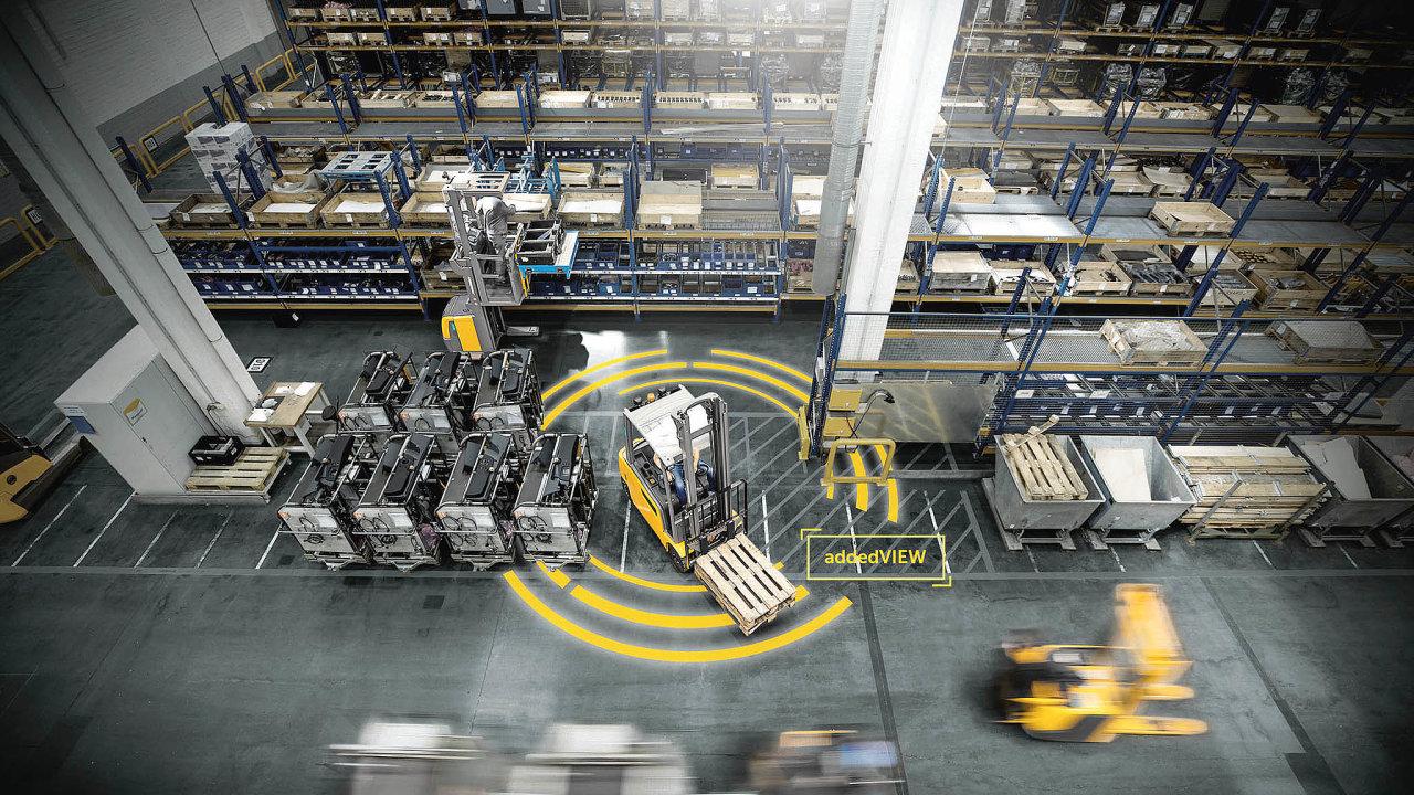 Bezpečnost provozu zvyšuje například systém addedView, poskytující ucelený 360stupňovýobraz okolí vozíku.