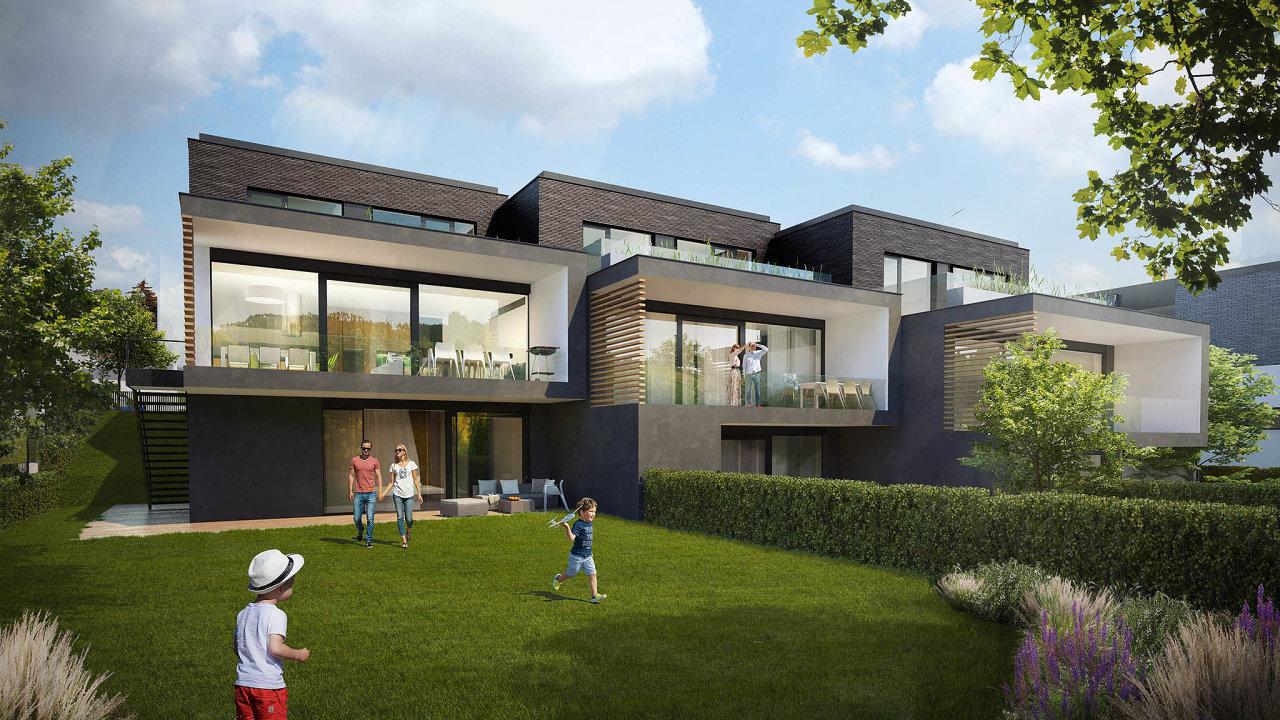 Vizualizace bytového komplexu Císařská vinice, který postaví developerská firma JRD poblíž pražského parku Ladronka.