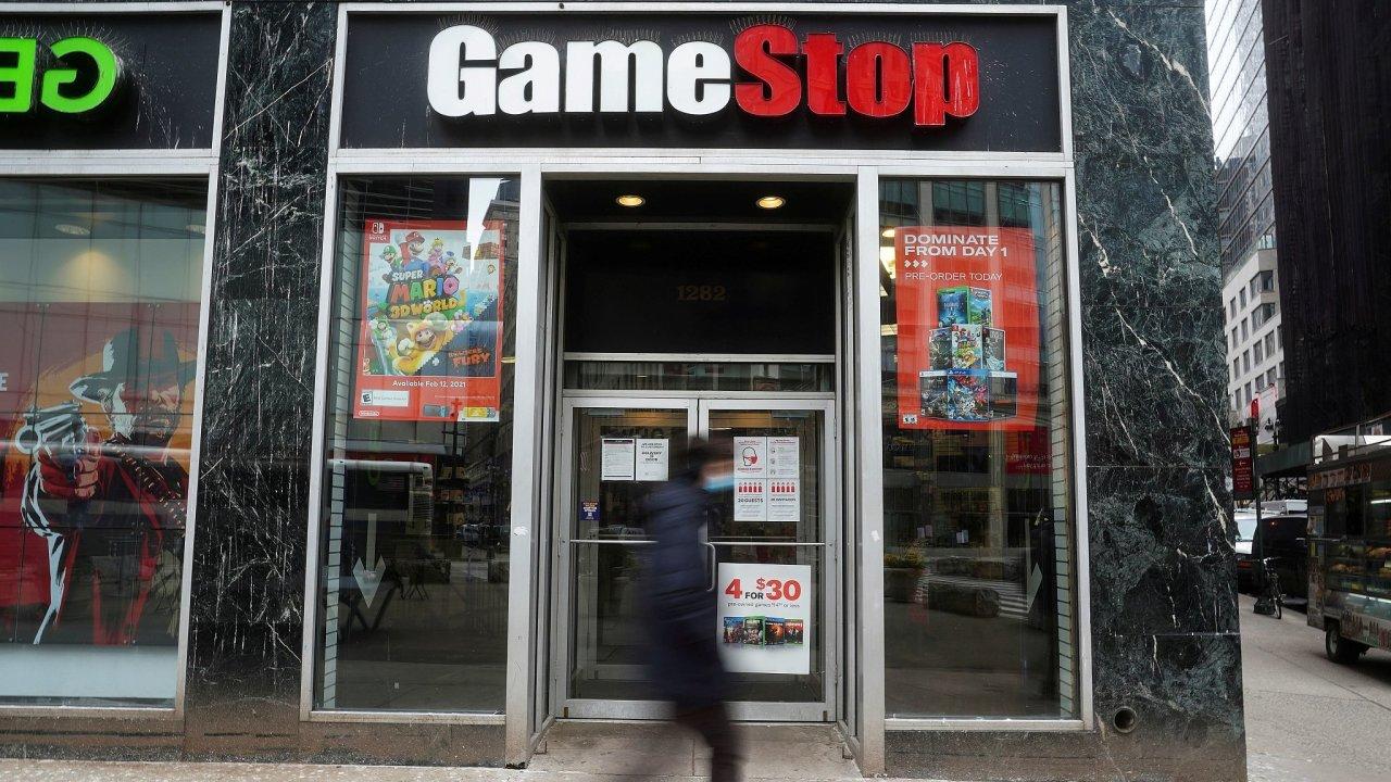 Pobočka obchodů GameStop. Ilustrační foto.