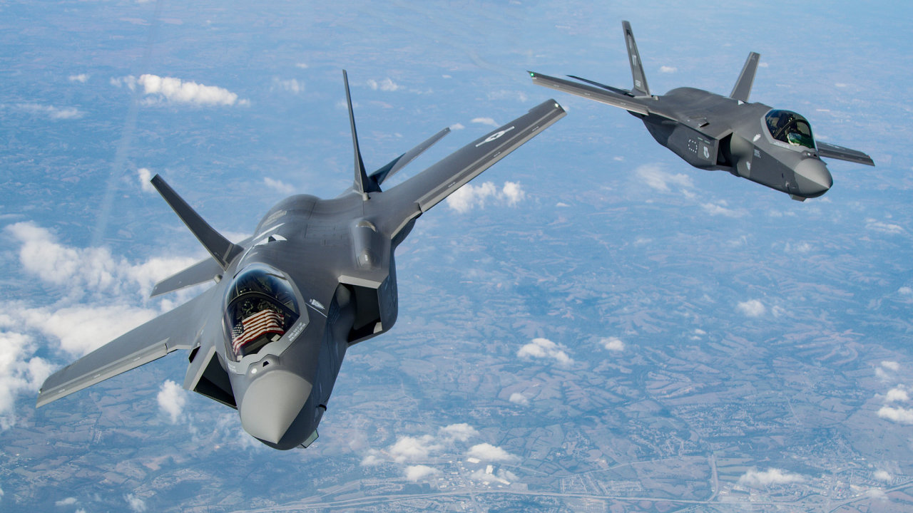 Bitevníky F-35 americké Národní gardy.