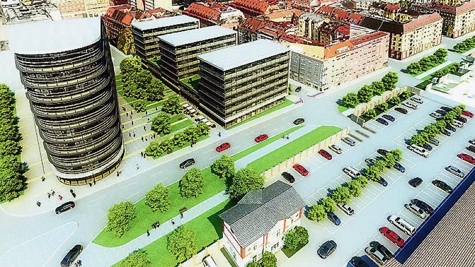 Vizualizace nové radnice Prahy 7