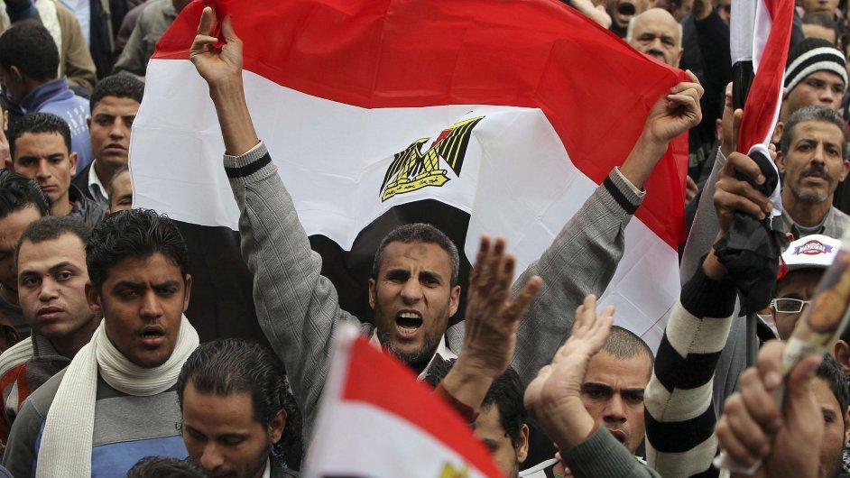 Demonstrace v Egyptě - ilustrační foto