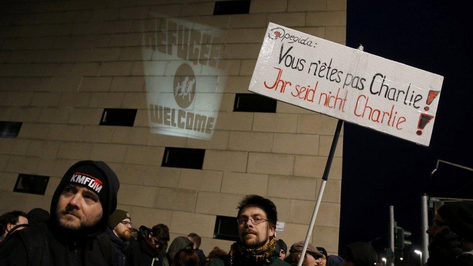 V pondělí protestovalo hnutí Pediga v Drážďanech.