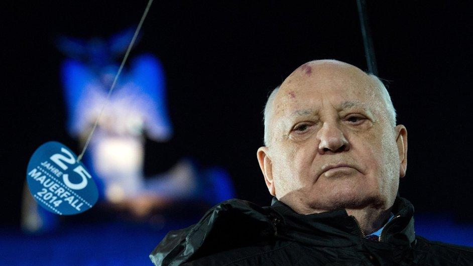 Michail Gorbačov na oslavě 25. výročí pádu Berlínské zdi