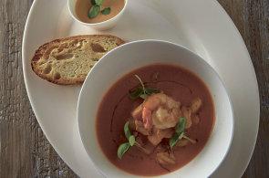 Mistrovské dílko z Provence: Krémová bujabéza s krevetami