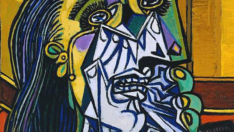 Pablo Piccaso: Plačící žena, 1937, Tate Modern, Londýn
