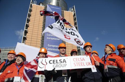 Stávky se zúčastnila i britská ocelárna Celsa Group.