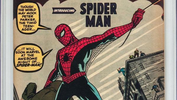 V USA se za 11 milion� vydra�il vz�cn� komiks se Spider-Manem.
