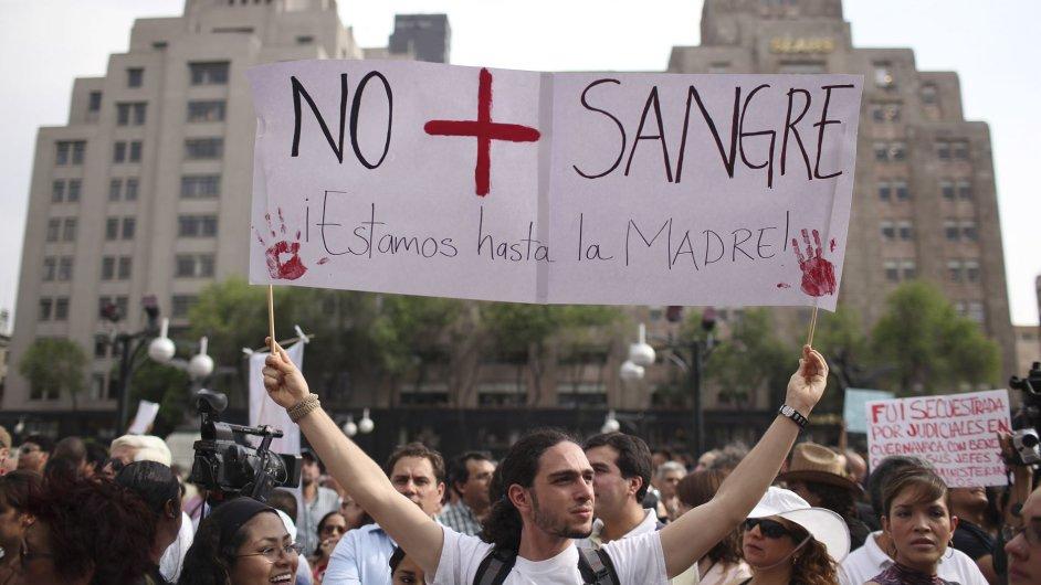 Mexiko protesty proti násilí