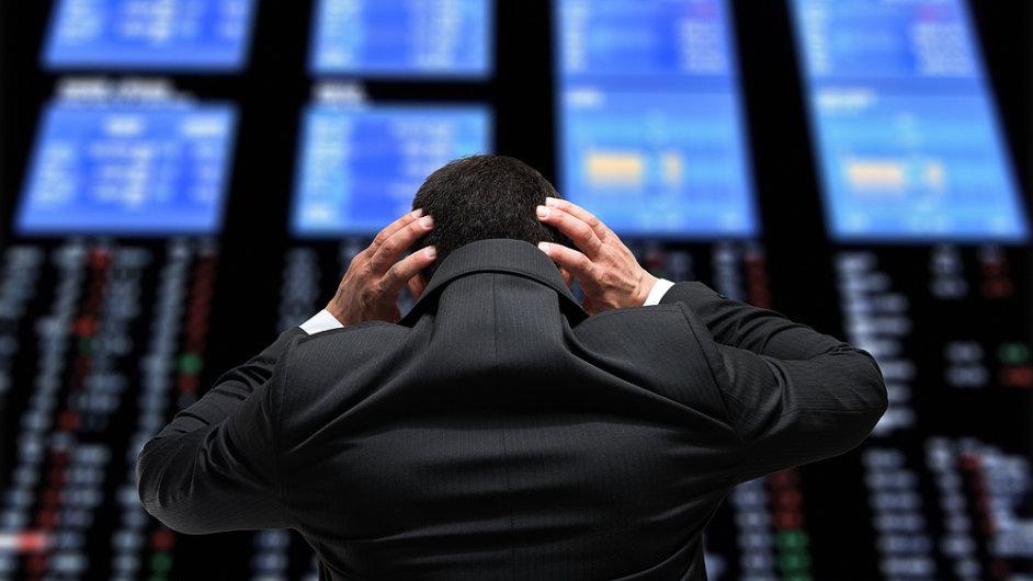 Zoufalý investor, ilustrační foto