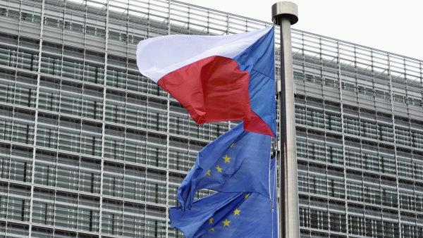 Česká evropská vlajka EU
