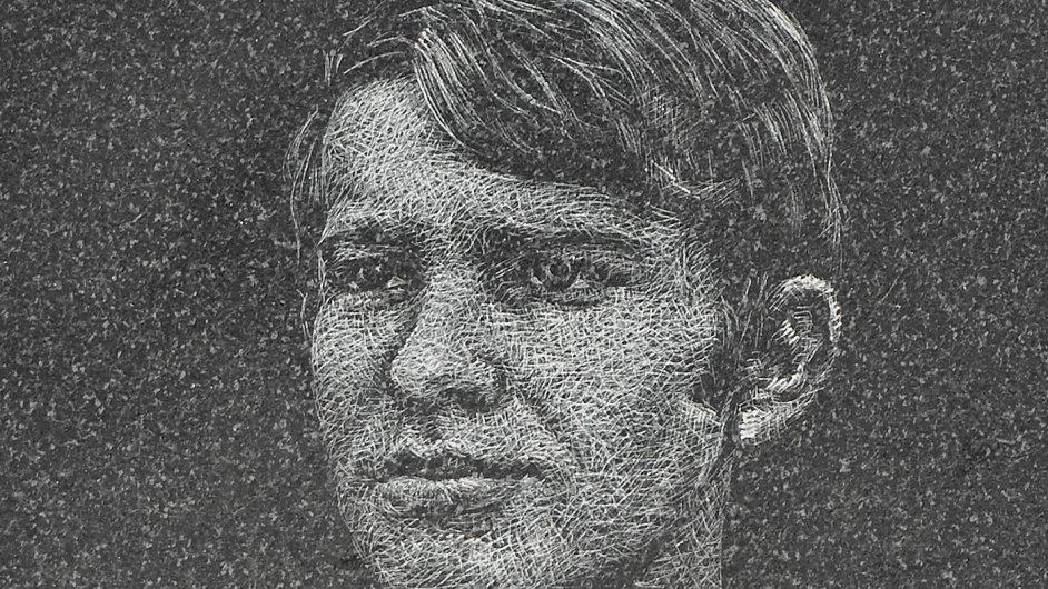 Podobizna Jana Zajíce pochází z pamětní desky na pražském Václavském náměstí.