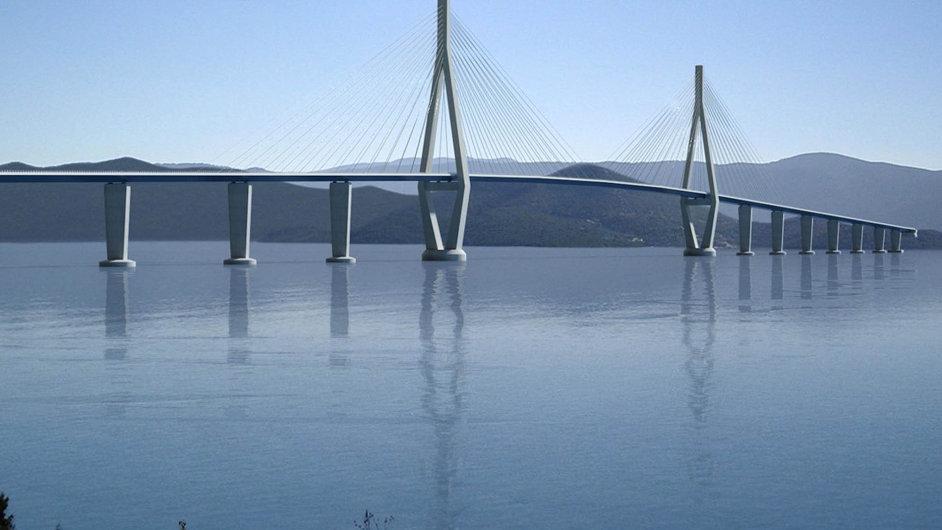Chorvaté konečně postaví most na polostrov Pelješac, díky němuž se při cestě na Jadran vyhnou asi 14kilometrovému pruhu bosenského teritoria.