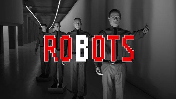 Snímek z traileru na koncertní komplet Kraftwerk.