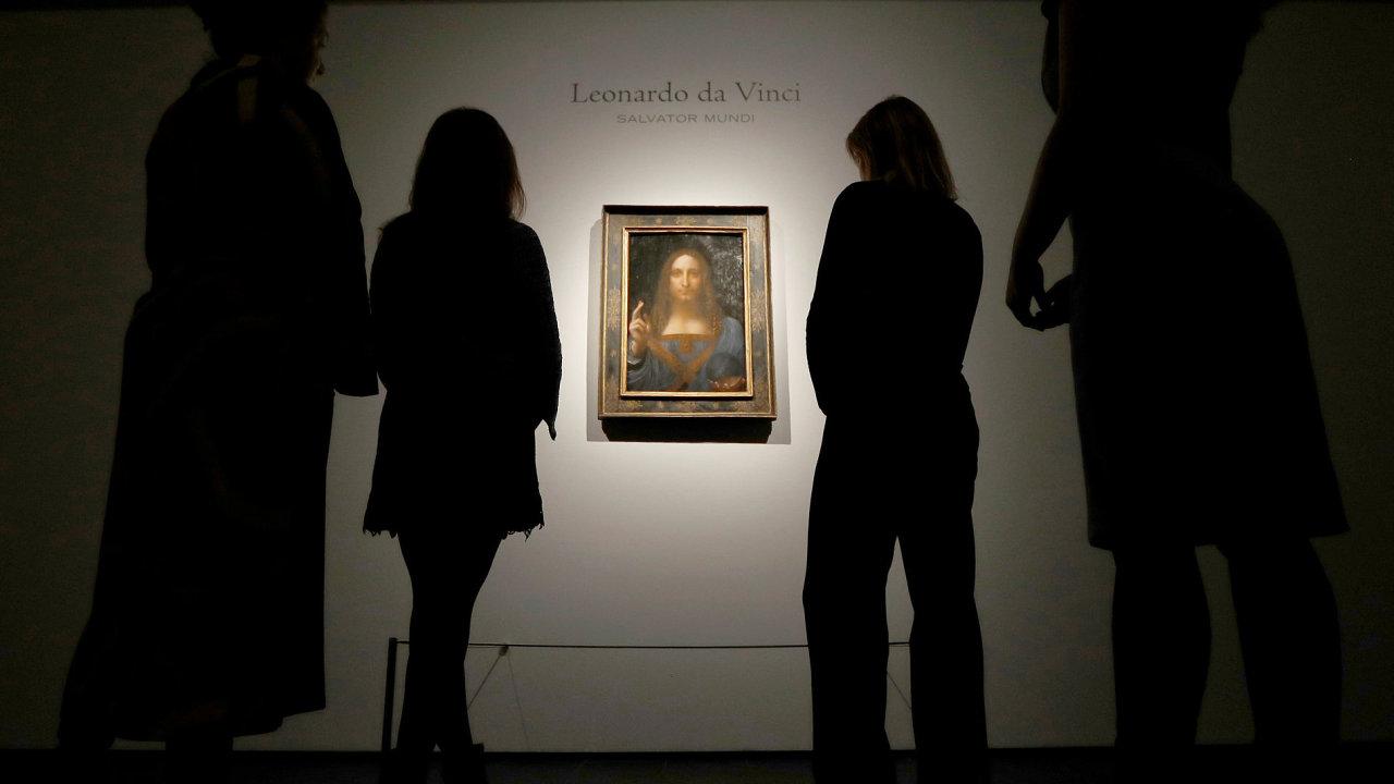 Spasitel světa, obraz Leonardo Da Vinci