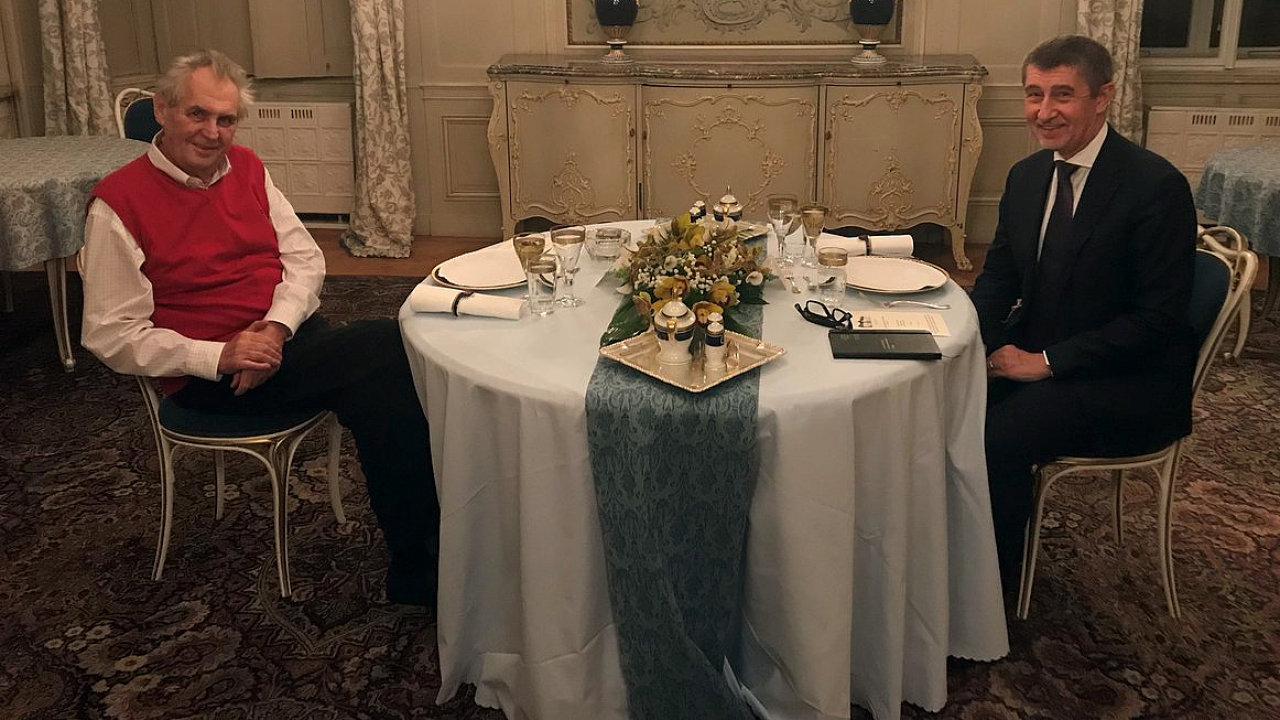 Prezident Miloš Zeman pozval do Lán na večeři premiéra v demisi Andreje Babiše.