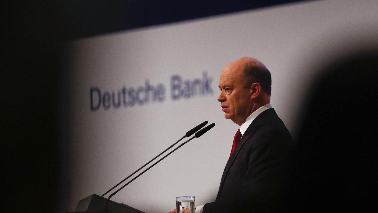 Odcházející šéf Deutsche Bank John Cryan.