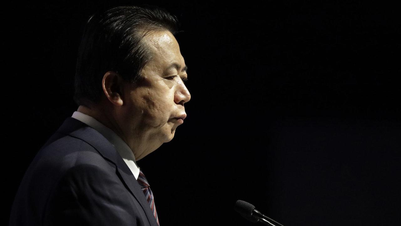 Šéf interpolu Meng Chung-wej zmizel koncem minulého měsíce, když odjel z Francie do Číny.