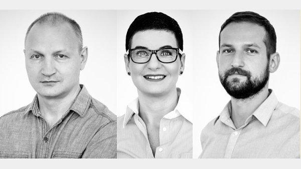 Yurii Korchun, Gabriela Ponert a Tomáš Rulak, fintech společnost XIXOIO