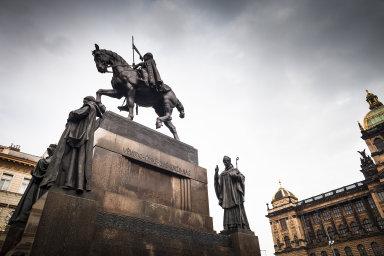 Česko, Václavské náměstí, socha