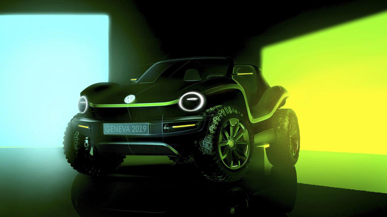 Volkswagen Buggy, elektromobil, který Volkswagen představil na autosalonu v Ženevě.
