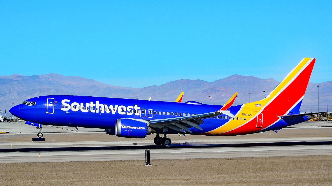 Boeing 737 MAX 8 společnosti Southwest Airlines.