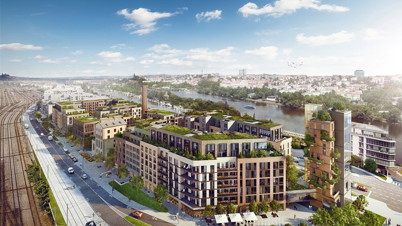Takto by měl podle ateliéru Kaňka + Partners vypadat bytový komplex na místě někdejšího lihovaru.