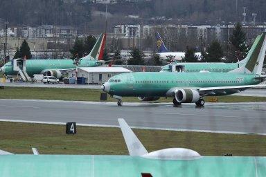 Na snímku zamerického letiště vRentonu ve státě Washington stojí stroje 737 Max chystané pro dopravce Norwegian Air International.