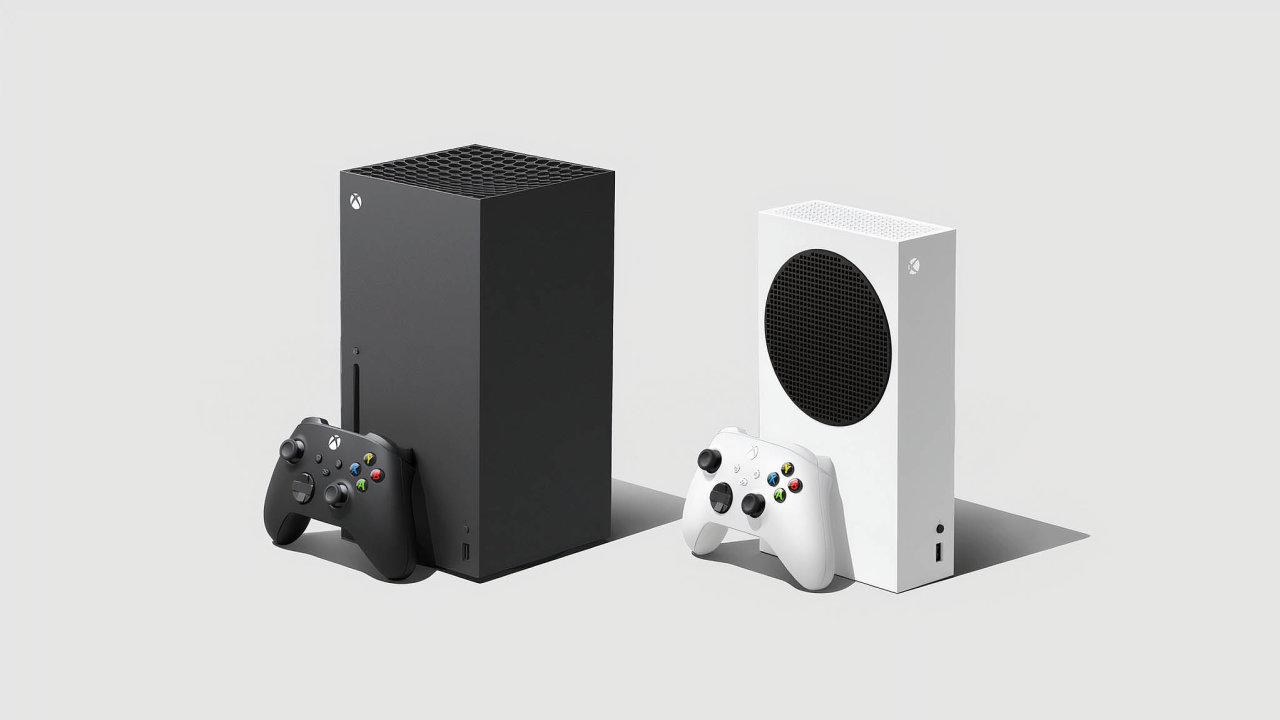 Konzole nedostanou všichni: Microsoft iSony se musely při prodeji novinek přizpůsobit opatřením proti koronaviru. Nasnímku vlevo černý Xbox Series X, vpravo bílý Xbox Series S.