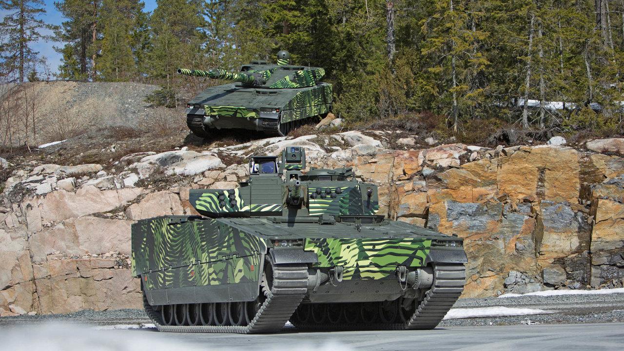 Nové stroje. Česká armáda si vybírá nová bojová vozidla pěchoty. Jedním ze tří nabízených strojů je CV90 britsko-švédského koncernu BAE.